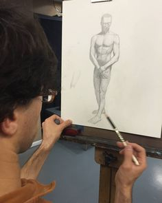 A student working on a drawing from the spring semester of Teaching Studio's founder Rob Zeller's Figure Drawing Atelier. The summer semester is about to start and students are able to sign up for our Figure Drawing and Painting class with Rob Zeller. This class runs July 5th - August 29th every Wednesday 11am-2pm. If you have wanted to learn more about the figure but find it overwhelming in its complexity this is the class for you. Our figure drawing and painting lessons emphasize form…
