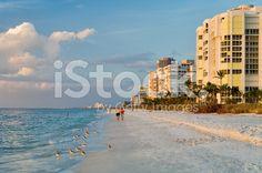 late afternoon along naples florida gulf coast beach royalty-free stock photo