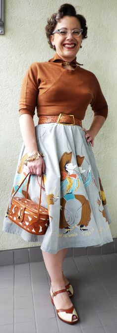 NEED THIS SKIRT! Hell, the whole outfit!    365 Vintage Days - Fintage