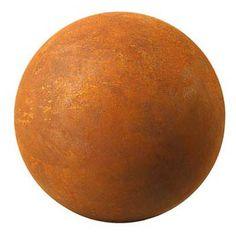 "6"" Natural Rusted Steel Garden Globe"