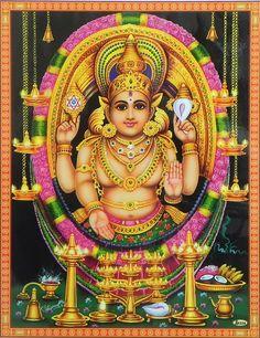 Chottanikkara Bhagawati (Reprint on Paper with Plastic Lamination - Unframed)