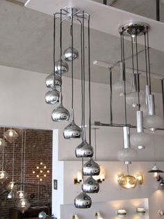 Ten Tier German Chrome Cascading Chandelier | From a unique collection of antique and modern chandeliers and pendants  at http://www.1stdibs.com/furniture/lighting/chandeliers-pendant-lights/