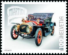 Swiss special stamp: Swiss automobiles (Martini)