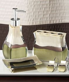 Sage/brown bathroom accessories | In my own little corner ...
