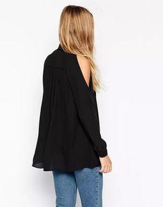 Femmes off épaule longues chemises sexy en mousseline de soie tops turn down col…