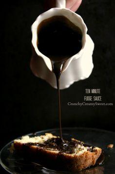 Ten Minute Fudge Sauce by CrunchyCreamySweet.com