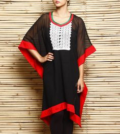 #Black & #Red #Georgette #Kaftan by #Navyou at #Indianroots #Diwali #Sale Was $20   Is $12