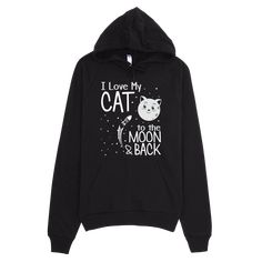 Crackin Skulls Funny Hoodies for Women And Men Crazy Cat Lady, Crazy Cats, Gifts For Pet Lovers, Cat Lovers, Hooded Sweatshirts, Hoodies, Love You, Moon, Space