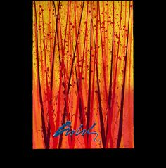 Tropical Blaze, Four-color serigraph with handwork