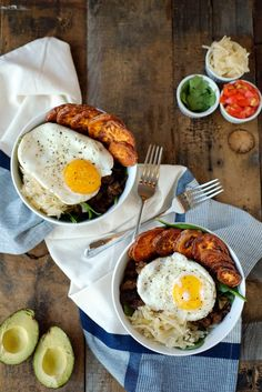 2-3 tbsp avocado oil or coconut oil 1 small sweet potato 2 cups of leftover taco meat or other leftover protein (we like to make our taco meat with our homemade taco seasoning) 2 eggs 2 handfuls of leafy greens 1 cup sauerkraut Salt and pepper, to taste