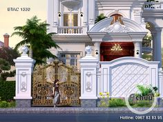 Fence Gate Design, Front Door Design Wood, Main Gate Design, House Gate Design, Village House Design, Entrance Design, House Front Design, Modern Exterior House Designs, Dream House Exterior