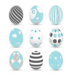 Easter eggs vector by lemony on VectorStock®