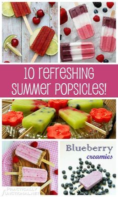 The best thing about summer is eating popsicles! Check out these 10 delicious, refreshing popsicle recipes to keep you cool this summer!