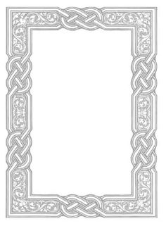 celtic frame for my signs! Celtic Border, Borders And Frames, Borders Free, Bible Illustrations, Celtic Tree, Islamic Art Calligraphy, Card Making Techniques, Celtic Designs, Writing Paper