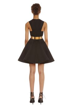 *Apologies, incorrect price on email. Dress is now £112.50 The Vorn in black is this party seasons update on the classic skater style mini dress. The structured skirt is fully bonded and lightly pleated to give the skirt a voluminous look. Round neck and cut away back. Concealed zip fastening at back of dress. The Vorn mini dress is from the AQ/AQ Exo-Noir Party Edit. WHY WE LOVE IT The fitted waist and full skirt will flatter all body types. The Vorn mini is this seasons structured f...