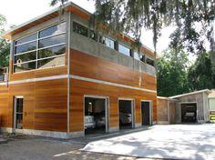 Savannah, GA with Guenzi-Vargas Studios contemporary-garage-and-shed