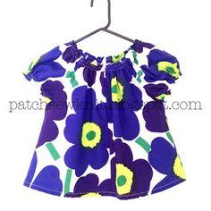Patch, Sew and Knit!: DIY Girl's tunic with Marimekko Pieni Unikko