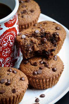 Gluten-Free Cinnamon Coffee Chocolate Chip Muffins #vegan