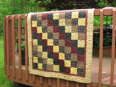 Quilt Lap Quilt Quilted Throw Quilted Wall by WarmandCozyQuilts
