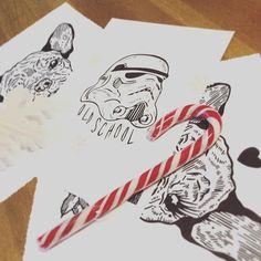 Art for gift #iblackwork #darkartists #draw #drawing #illustration #illustrator #linework #dotwork #sketch #flashtattoo #tattoo #print #screenprinting #paper #ink #deco #home #gift #dog #starwars #candy #christmas
