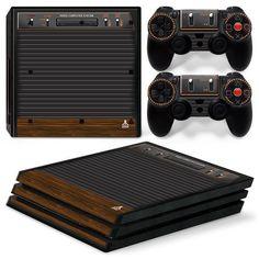 Pro Playstation 4 Console Skin Decal Sticker Old Atari Retro Custom Design Online Video Games, Video Games Xbox, Xbox One Games, Playstation Consoles, Ps4, Game Modding, Arcade, Decal, Sticker