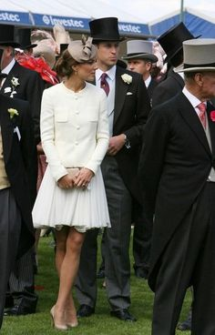 It's the stomping of the divots! No...Prince William and Kate at the Epsom Derby