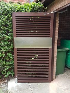 Our Heavy Duty Fabricated Louvred Door is the right bin store solution; fitted at Tanyard Close in Horsham. Bin Store, Steel Security Doors, Horsham, Louvre, Home Appliances, Puertas, House Appliances, Appliances