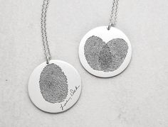 Hey, I found this really awesome Etsy listing at https://www.etsy.com/listing/226151862/actual-fingerprint-disc-necklace