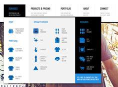 Awesome & Sexy Menu with Nested Items. Via: http://www.realthread.com/ #ui #design #webdesign #graphic