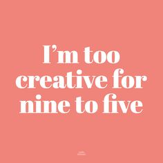 Studio Stationery | Fun | Quote | Design | Creative | Nine to five | Work