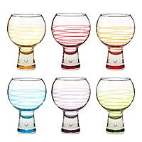 LOVE this set, way too cute!!!   BUBBLE WINE GLASSES - SET OF 6|UncommonGoods