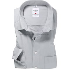 Olymp - Olymp Pale Grey Chambray Shirt - Comfort Fit