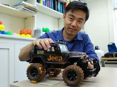 This New Nanogenerator Could Make Cars Much More Efficient – By Emily Matchar Electrodes placed on a car's tires can harness the energy generated when rubber meets road. As the Jeep rolled along, its LED lights began to flash on and off. But instead of the toy's battery powering the lights, as one might expect, a nanogenerator on the Jeep's tires harvested friction... #cars #nanogenerator