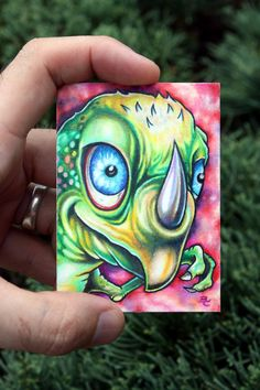 Micro Mystery Monster 007 original ACEO ATC by bryancollins, $45.00