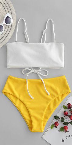 Swimwear For Women Best Swimsuit Websites Swimwear Online Shop High Waisted Swimsuit Bottoms High Waisted Bathing Suits bottoms High online Shop swimsuit Swimwear Waisted Websites Women Bathing Suits For Teens, Summer Bathing Suits, Swimsuits For Teens, Cute Bathing Suits, Cute Swimsuits, Kids Swimwear, Yellow Bathing Suit, Yellow Bikini Set, Orange Swimsuit