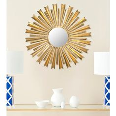 bc8d70f2aafd Shop for Golden Arrows Sunburst Antique Gold Mirror. Get free shipping at…  Home Decor