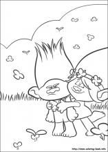 Branch And Poppy Trolls Coloring Page Basteln Pinterest