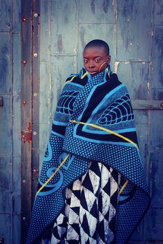 Royal: The Basotho Blanket - African fashion African Fashion Designers, African Print Fashion, Africa Fashion, Fashion Prints, African Prints, African Wear, African Dress, African Style, African Outfits