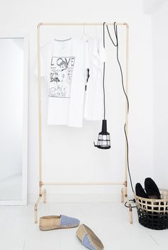 This DIY clothing rack is perfect for any minimalist Virgo home.