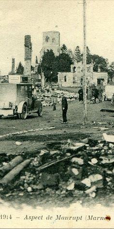 WWI, 1914, Maurupt, Marne. via Delcampe (detail)