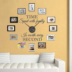 Real Family Clock Wall Decal By Trendywalldesigns On Etsy 49 95