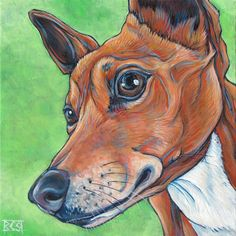 8 x 8 Custom Pet Portrait Painting in Acrylics by bethanysalisbury, $90.00 www.petportraitsbybethany.com