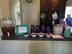 Kentucky Derby Themed shower with a champagne bar and mint juleps