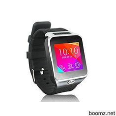 Smart Watch: Touch Screen Bluetooth Water Resistant Wrist Phone Mate Smartwartch Wrist Watch Bracelet with Remote Camera Pedometer Sleep Monitor SIM TF Mico SD Card for Smartphones Cell Phones Cellphones iPhone 4/4S/5/5S/5C/6/6Plus Samsung S3/S4/S5 Note 2/3/4 HTC Sony ALL Android and IOS Mobile Devices