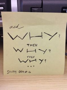 Sticky idea 16: why why why #design #creativity #inspiration