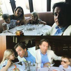 on Father's Day with wife & children; Bojana, Olivia, & Liam