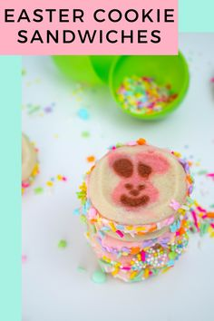Need some super simple Easter cookies for spring this year? These are made with Pillsbury sugar cookies and a light and fun cream cheese frosting. These are ready in less than 30 minutes and are sure to delight any crowd at a spring party. Spring Cupcakes, Easter Cupcakes, Easter Cookies, Easter Treats, Pillsbury Sugar Cookies, Cookies Et Biscuits, Spring Desserts, Easter Desserts, Spring Recipes