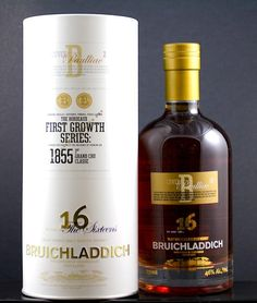Bruichladdich Single Malt Scotch Whisky The Sixteens Bordeaux First Growth Series Cuvée B Pauillac 16 Years Old - 92 Proof (750ml)
