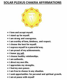 Solar Plexus Chakra Affirmations No. Chakra Meditation, Meditation Musik, Qi Gong, Ayurveda, Mind Body Spirit, Mind Body Soul, 3 Chakra, Blue Chakra, Chakra Mantra