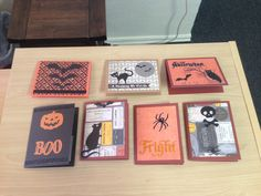 Halloween cards made with the Artbooking cartridge